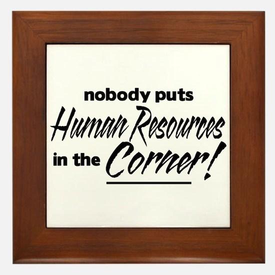 HR Nobody Corner Framed Tile