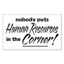 HR Nobody Corner Decal