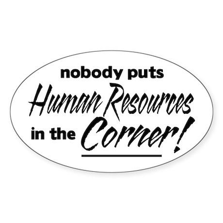 HR Nobody Corner Sticker (Oval)