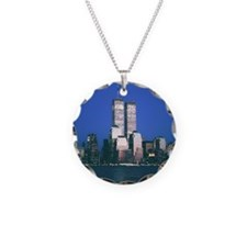Twin Towers Pendant Necklace