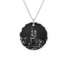 Twin Towers By Night Necklace