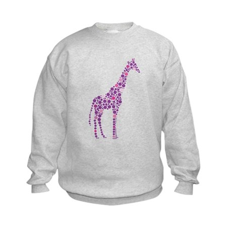 Purple Giraffe Kids Sweatshirt