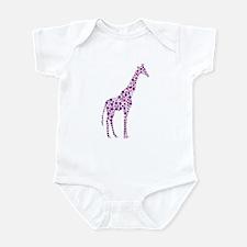 Purple Giraffe Infant Bodysuit