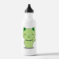 Maneki Neko - Green Lucky Cat Water Bottle