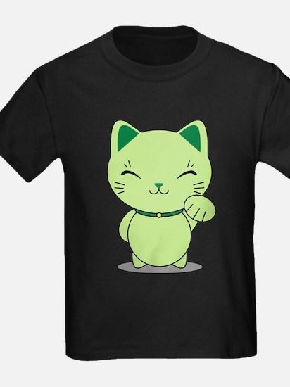 Maneki Neko - Green Lucky Cat T