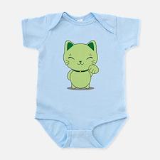 Maneki Neko - Green Lucky Cat Infant Bodysuit
