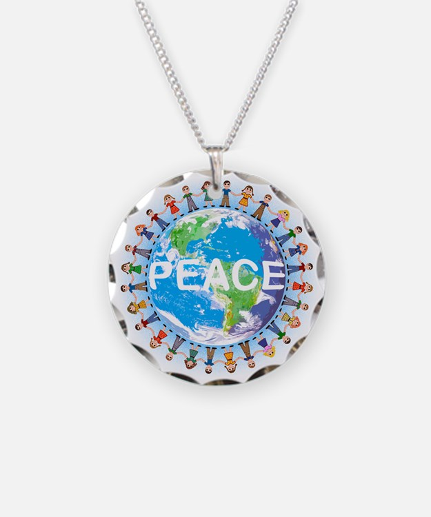 Peace, Children holding hands - Necklace