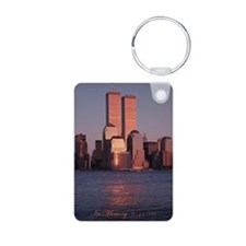 9/11 Tribute Keychain - aluminum, very nice.
