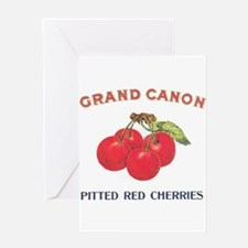 Funny Fruit crate label art Greeting Card