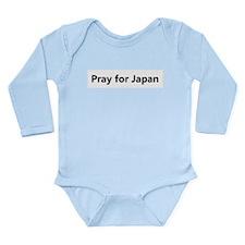 Cute Japan earthquake Long Sleeve Infant Bodysuit