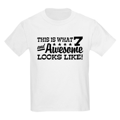 Funny Seven Year Old Kids Light T-Shirt