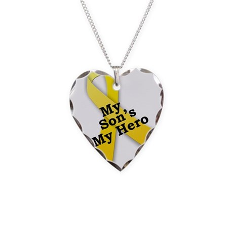My Son's My Hero Necklace Heart Charm