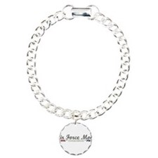 Air Force Mom:Strong Courageo Charm Bracelet, One
