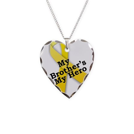 My Brother's My Hero Necklace Heart Charm