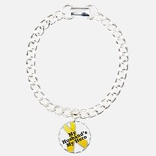 My Husband's My Hero Charm Bracelet, One Charm