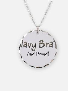 Proud Navy Brat Necklace