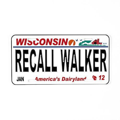 Recall Walker Aluminum License Plate