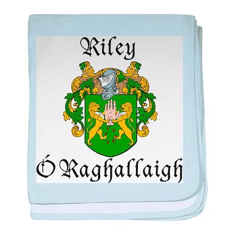 Riley In Irish & English baby blanket