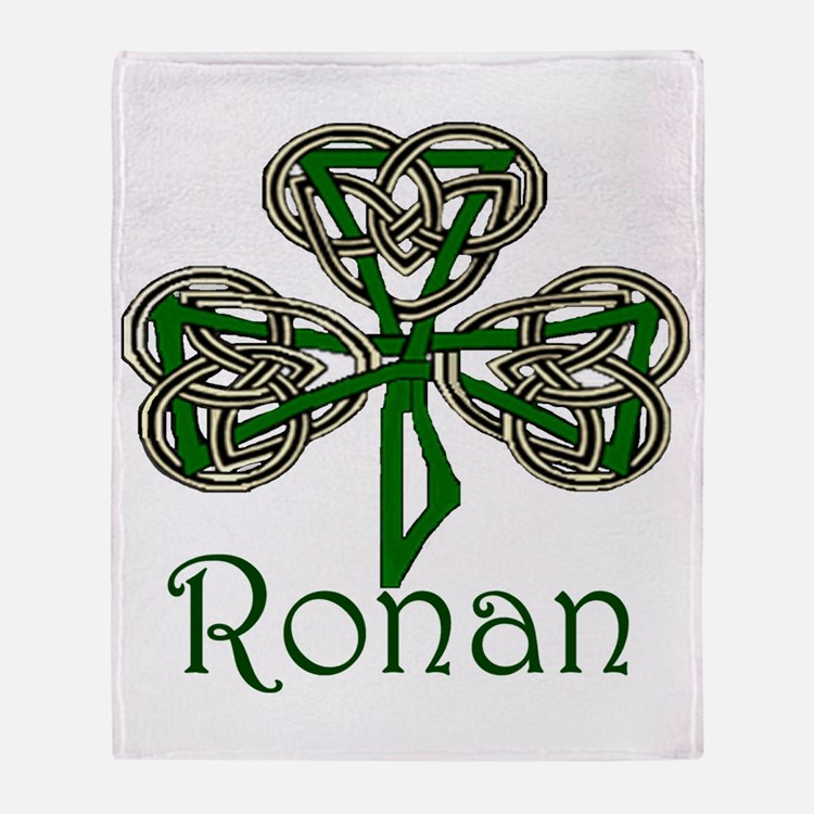 Ronan Shamrock Throw Blanket