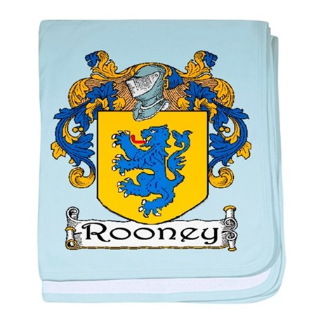 Rooney Coat of Arms baby blanket