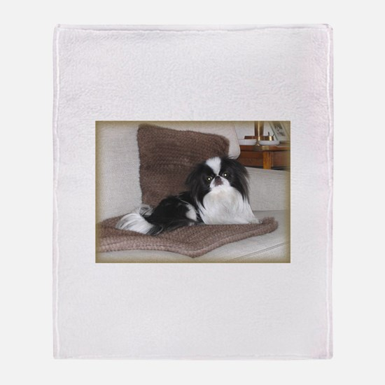Deluxe Japanese Chin Darling Throw Blanket
