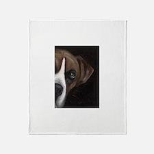 Boxer Face Throw Blanket
