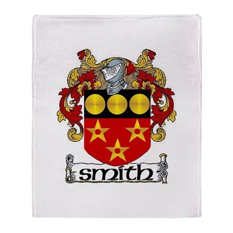 Smith Coat of Arms Throw Blanket