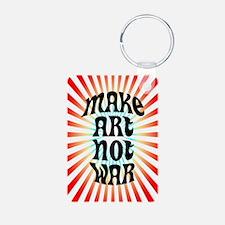 Make Art Not War Keychains