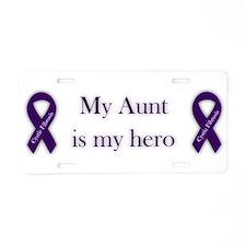 Aunt CF Hero Aluminum License Plate