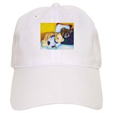 Boxer and Teddy Baseball Cap