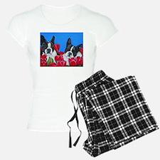 Boston Terriers & Tulips Pajamas