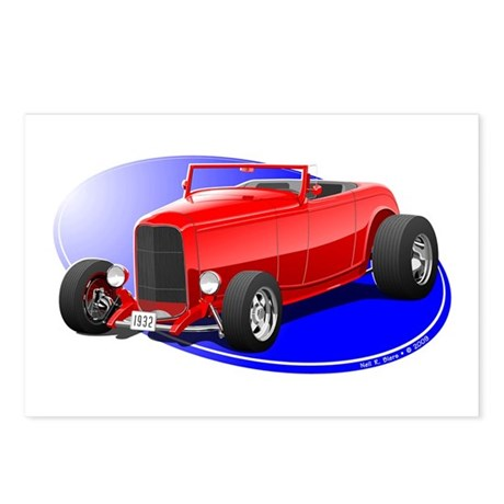 Classic Hot Rod Postcards (Package of 8)