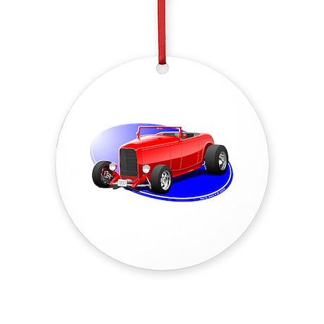 Classic Hot Rod Ornament (Round)