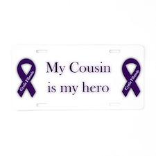 Cousin CF Hero Aluminum License Plate