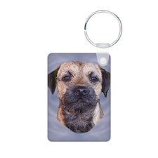 Border Terrier Head Study Keychains