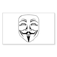 Cute Guy fawkes mask Decal