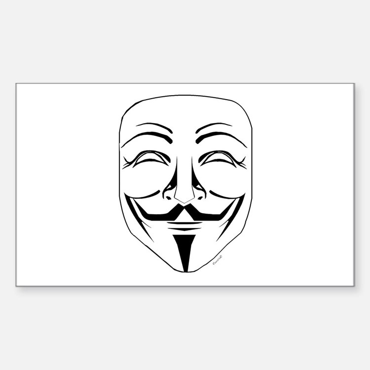Cute Anonymous mask Decal