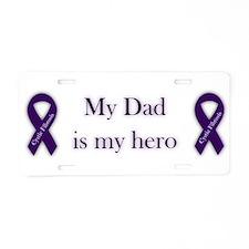 Dad CF Hero Aluminum License Plate