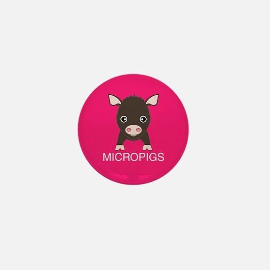 Love Micropigs Mini Button