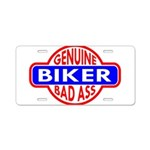 Genuine Biker BadAss Aluminum License Plate