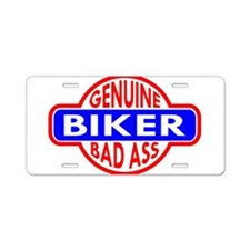 Genuine Biker BadAss Aluminum License Plate