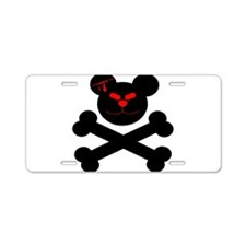 Evil Teddy Bear Aluminum License Plate