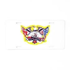 USA & British Eagle Tattoo Aluminum License Plate