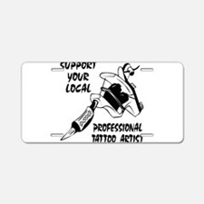 Support Professional Tattoo A Aluminum License Pla