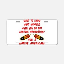 Controling Immigration Aluminum License Plate