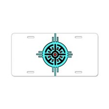 Medicine Wheel Aluminum License Plate