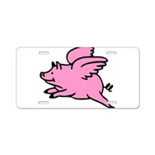 Flying Pig Aluminum License Plate