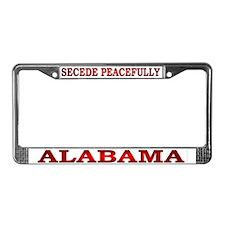 Alabama-3 License Plate Frame