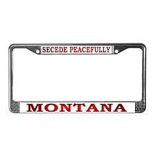 Montana-3 License Plate Frame