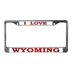 Wyoming-1 License Plate Frame